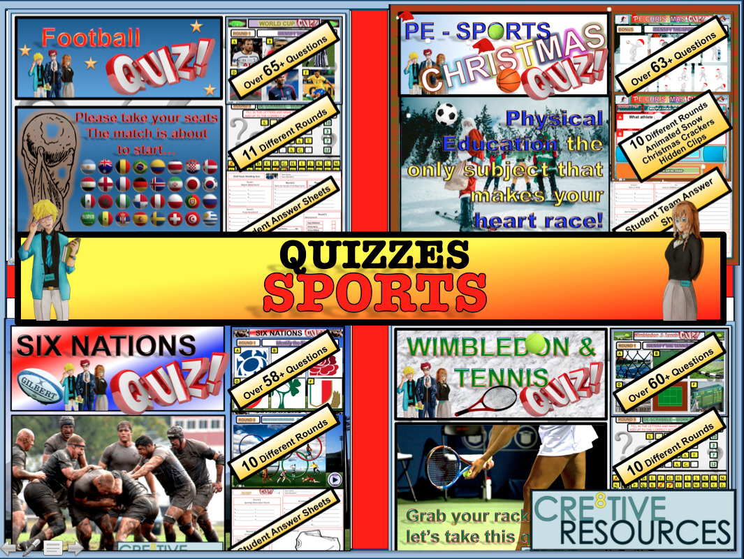 Sport and PE Quiz Lessons