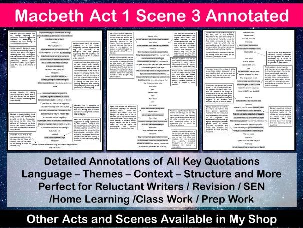Macbeth Act 1 Scene 3 Annotated