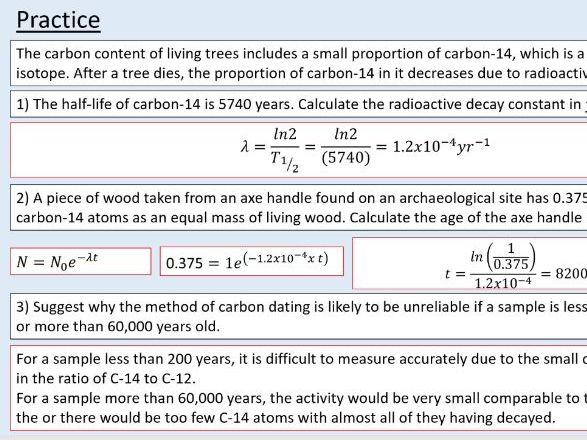 A level Physics (26.7)  Radioactive isotopes in use  (Radioactivity)
