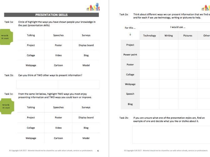 RESEARCH & PRESENT IT (2) - PRESENTATION TOOLS & PROJECT workbooklet