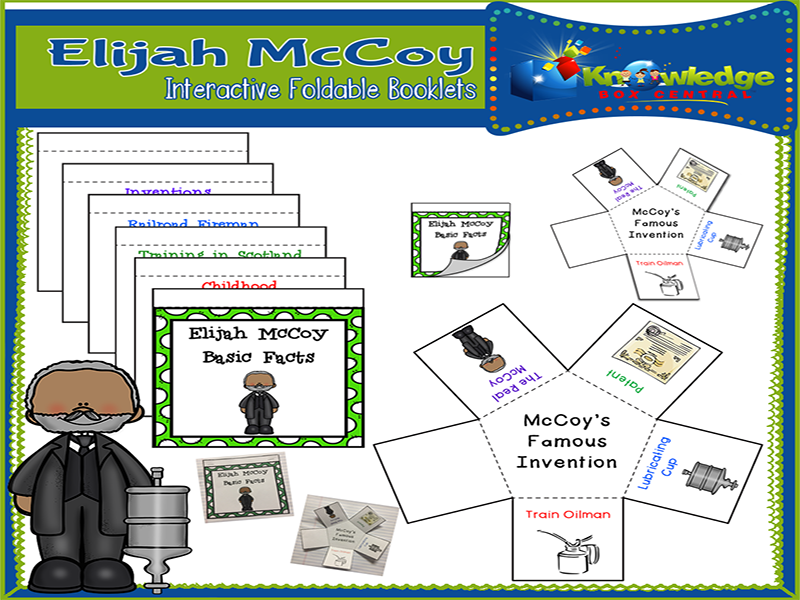 Elijah McCoy Interactive Foldable Booklets