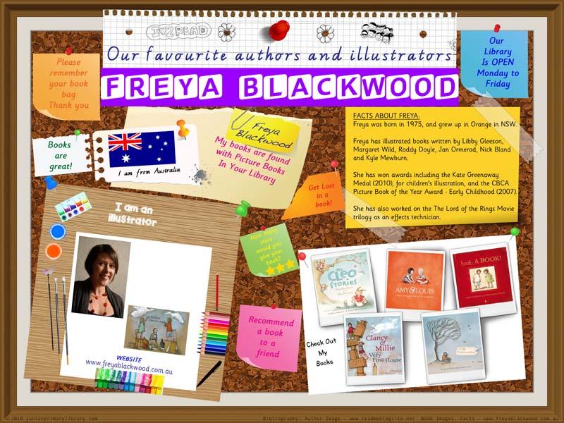 Library Poster - Freya Blackwood Australian Author Illustrator Of Picture Books