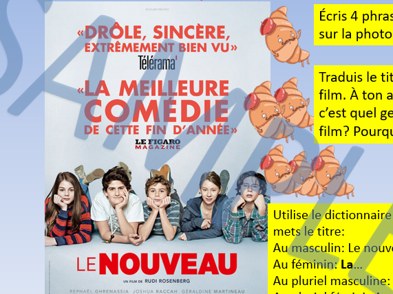 Le nouveau 2015 (the new kid) film activities