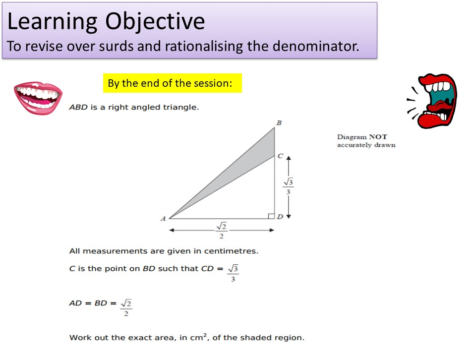 GCSE 1-9 Higher Surds & Rationalising the Denominator Revision