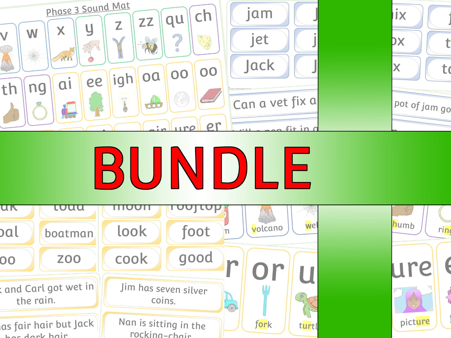 Phase 3 Bundle - Phonics/Letters and Sounds Pack - EDITABLE