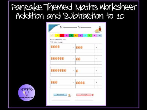 Photosynthesis Worksheets For Middle School Pancake Themed Maths Worksheet  Addition And Subtraction To  By  Potential And Kinetic Energy Worksheets Middle School Word with Letter S Preschool Worksheets Pdf Pancake Themed Maths Worksheet  Addition And Subtraction To  By Krazikas   Teaching Resources  Tes Letter D Tracing Worksheet Excel