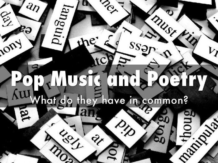 Poetry of Pop Songs