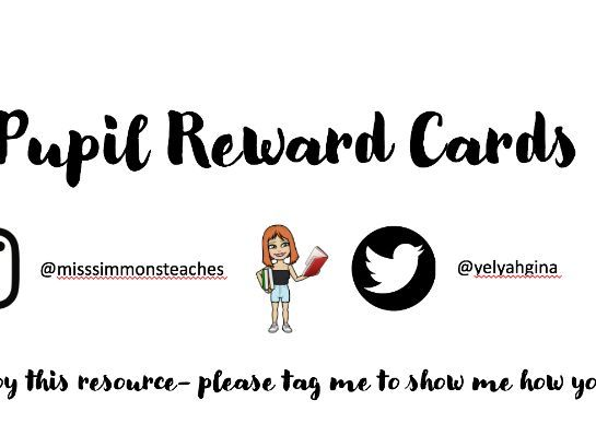 Pupil Reward Cards