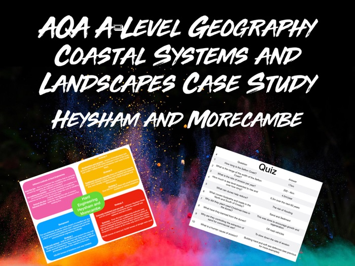 AQA A-Level Geography Coastal Systems Case Study Hard Engineering (Heysham and Morecambe) with Quiz