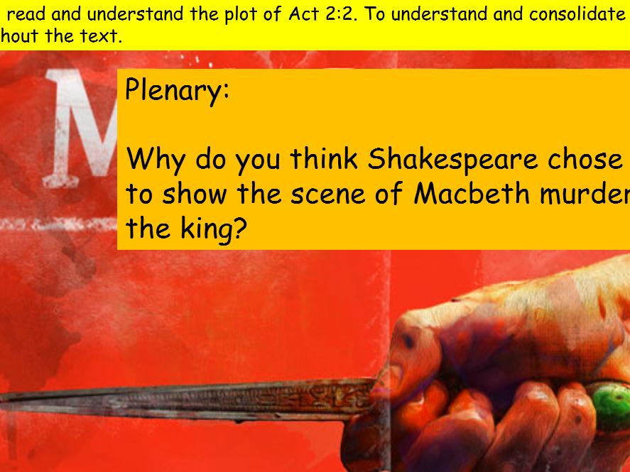 KS4 GCSE Macbeth Act 2 Scene 2