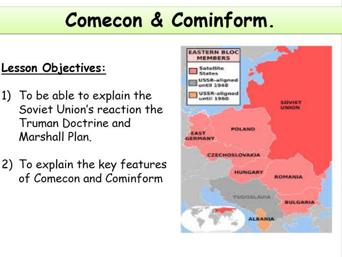 COMECON and COMINFORM - Including Source Activity Sheet