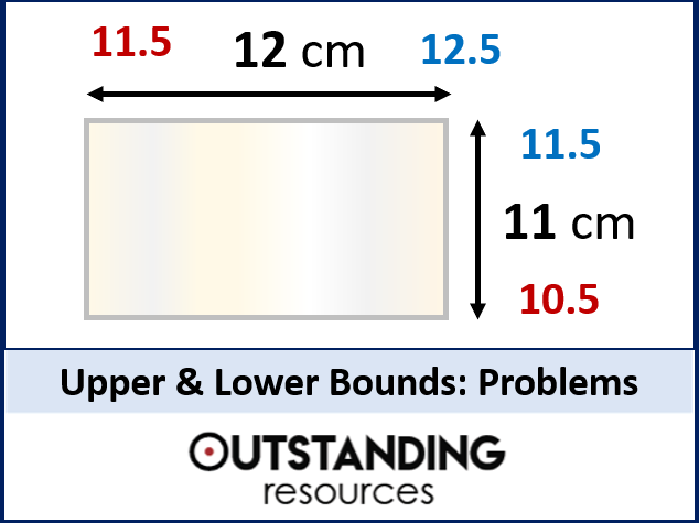 Upper and Lower Bounds 2 (Error Intervals) - Area and other Problems  (+ worksheet)