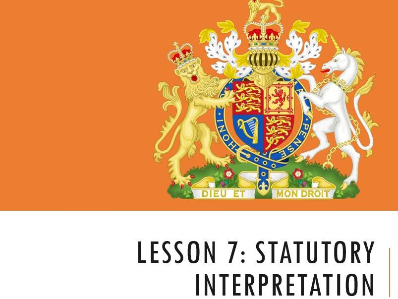 ELS - Statutory Interpretation Lesson (Lesson 1 of 3)