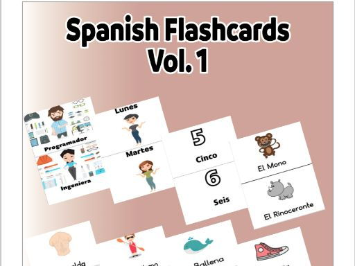 Spanish Flashcards Volume 1