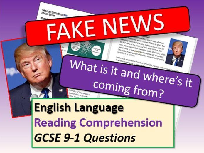 Fake News Reading Comprehension
