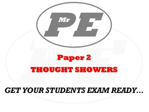 THOUGHT SHOWERS Paper 2