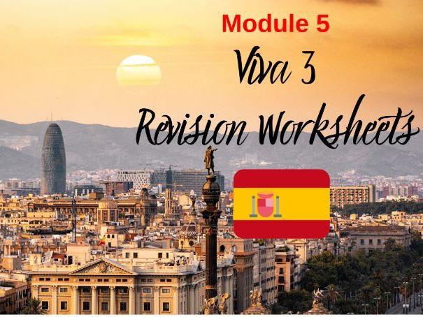 SPANISH Viva 3 Module 5 Worksheets