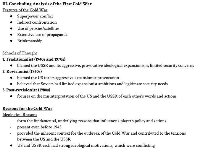 [A Level/GCSE]  Cold War Comprehensive Notes