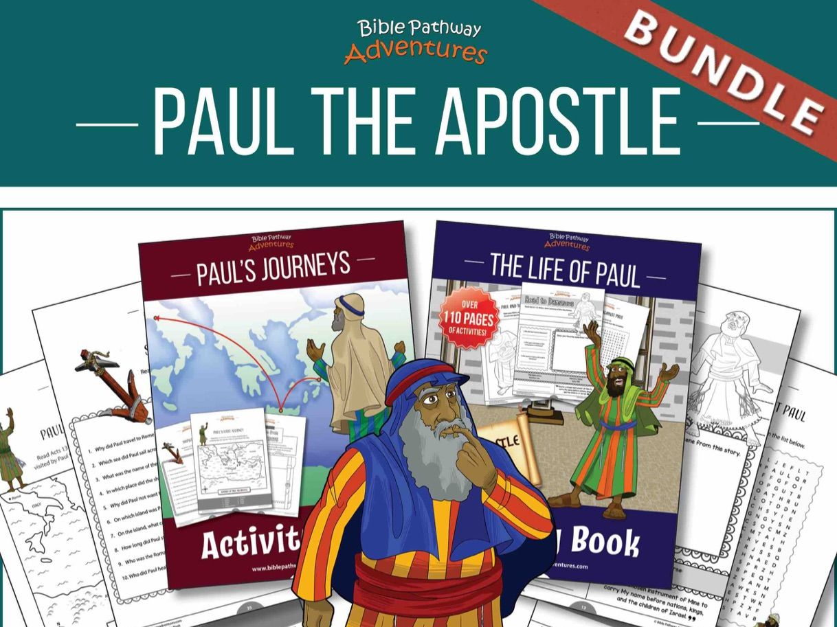 BUNDLE:  Paul the Apostle Activity Books