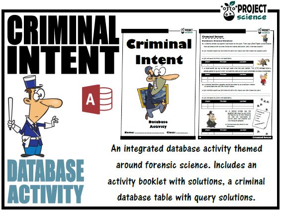 Criminal Intent - Database Activity