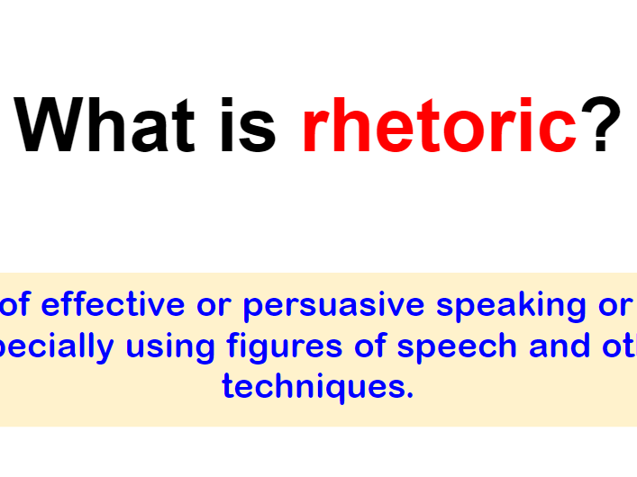 Rhetoric and Speeches - KS3