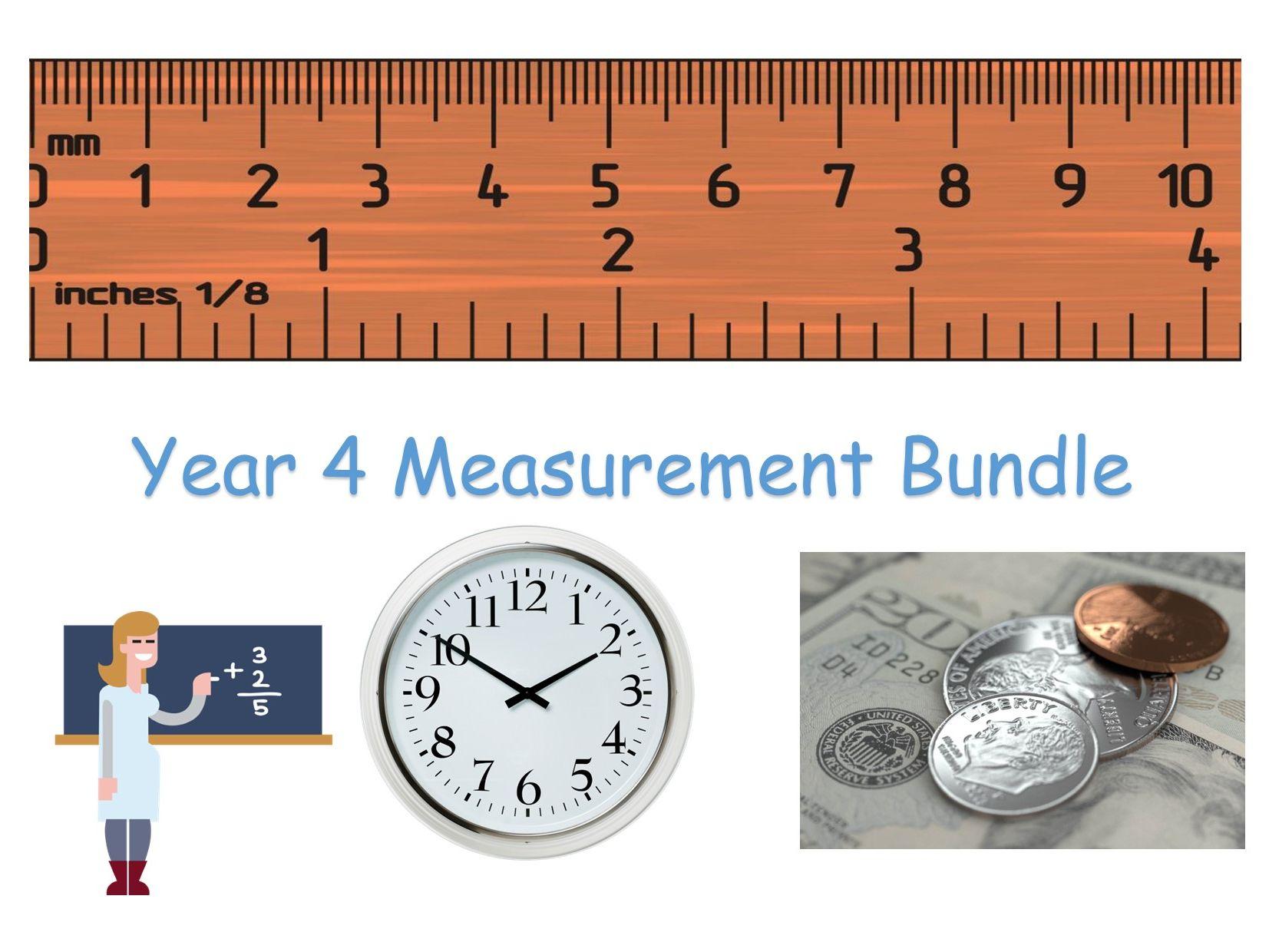 Y4 Maths - Measurement Bundle