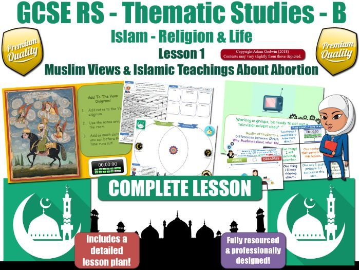 Abortion - Comparing Muslim & Christian Views (GCSE RS - Islam - Religion & Life) L1/7