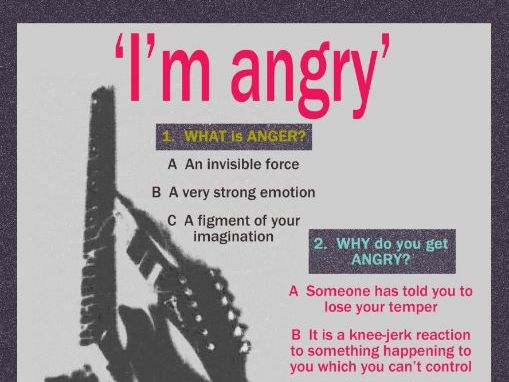 'I'm angry' Quiz Poster (PSHE Anger)