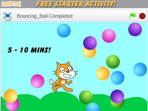 Scratch Starter – Bouncing Ball Activity