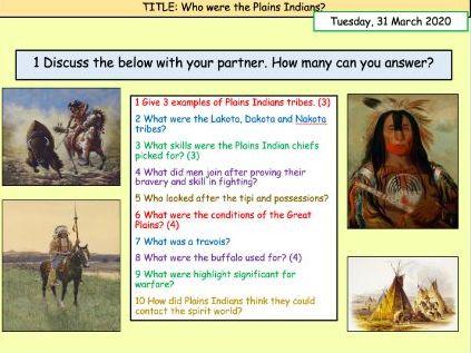 Buffalos/Tipis (GCSE Edexcel Lesson 1)