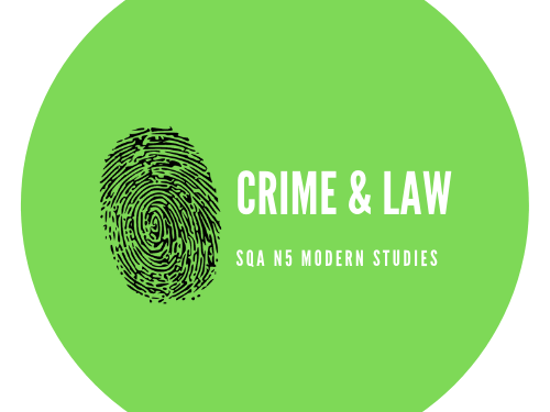 SQA N5 Modern Studies Crime and the Law Revision Task Booklet
