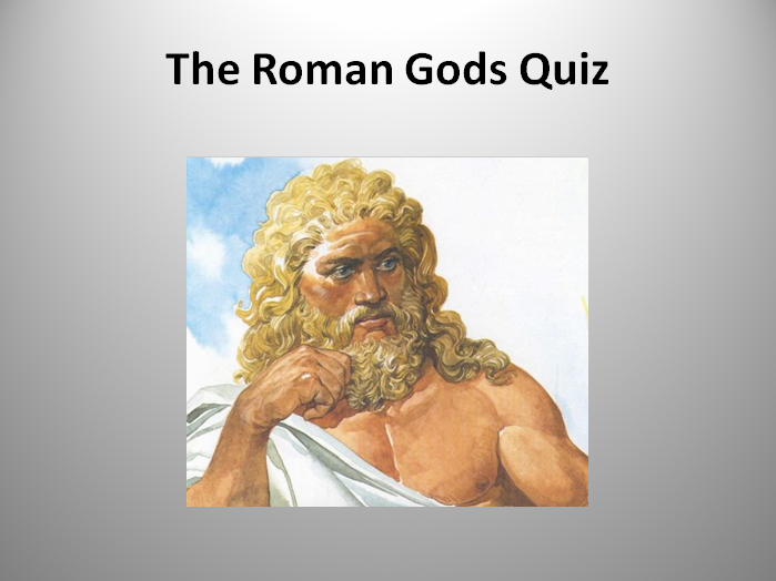 Roman God Quiz