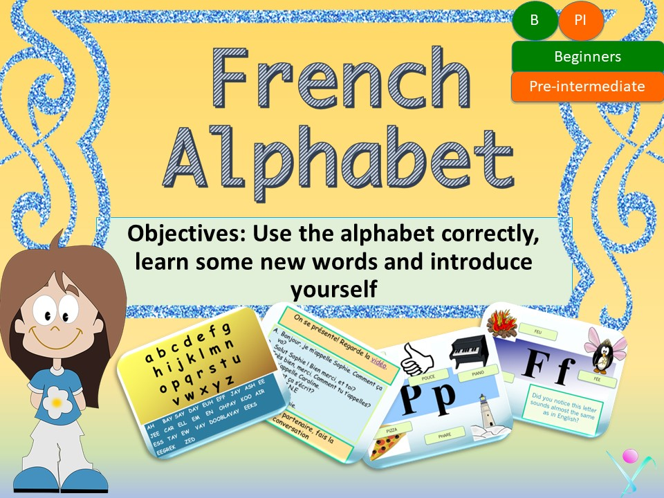 French alphabet, l'alphabet en français interactive activities