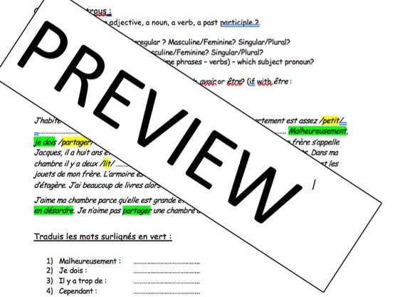 KS4 - Daily Routine and helping at home - iGCSE - gap fills/writing tasks (short and long practice)