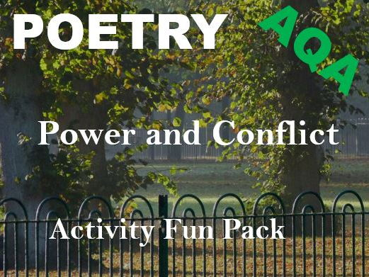 AQA Power and Conflict Poetry Fun Activity Pack - Quiz, Crosswords, Wordsearches, Anagrams, Revision