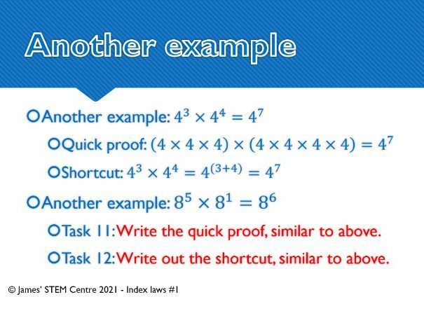 Index laws presentation (part 1) - AC Year 8 Maths - Number and Algebra (Index laws)