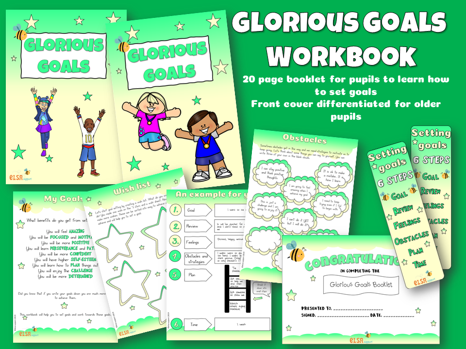 New Year 'Glorious Goals' workbook