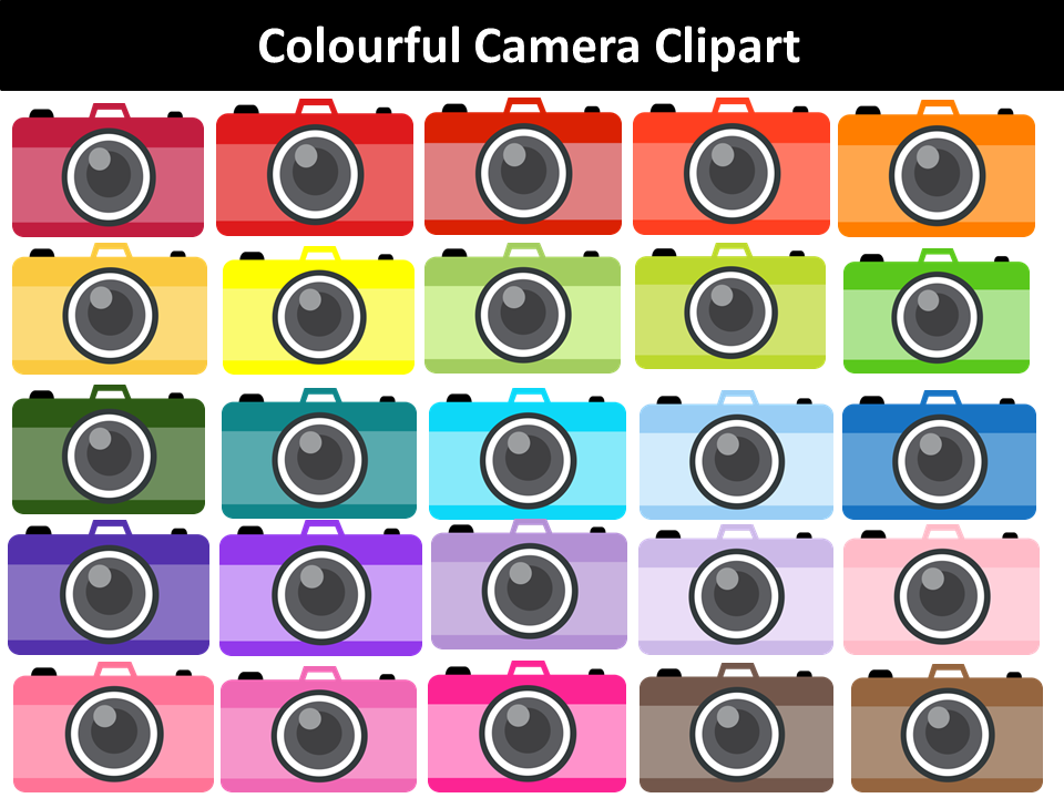 Colourful Camera Clipart