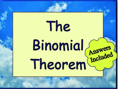 The Binomial Theorem - With Answers