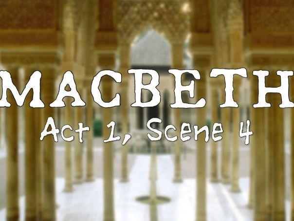 Line by Line: Macbeth (1.4)