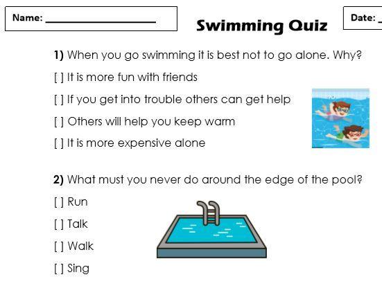 Swimming Safety Quiz