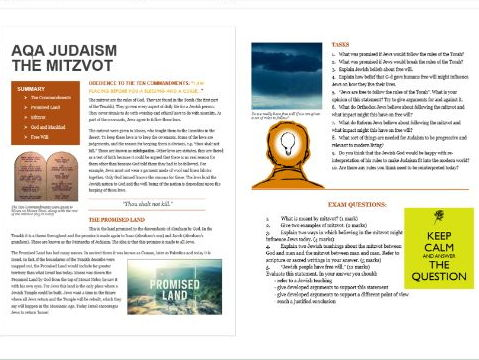 Jewish Beliefs and Teachings: The Ten Commandments, Mitzvot, Promised Land and Free Will