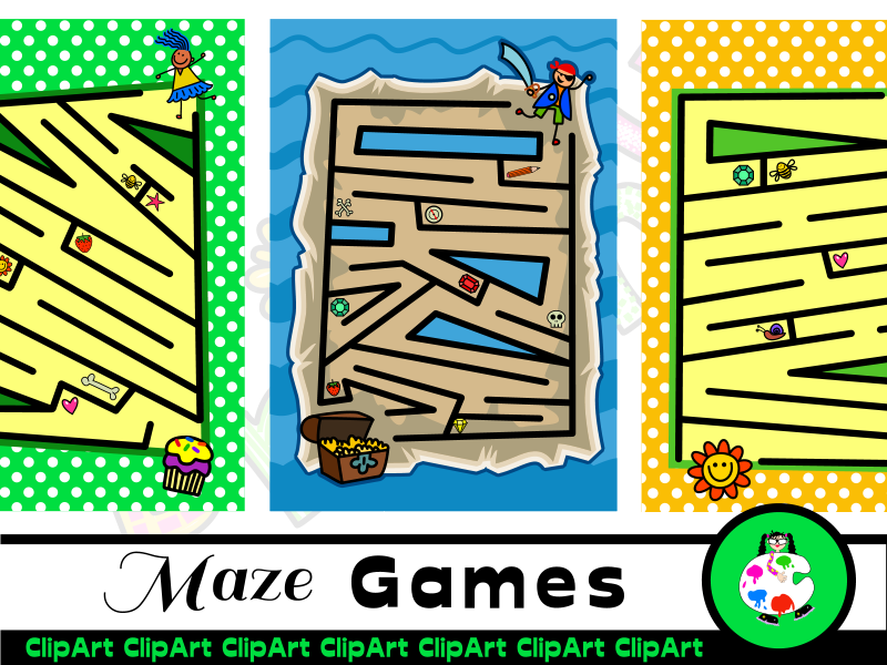 Printable Kids Fun Maze Activity Game