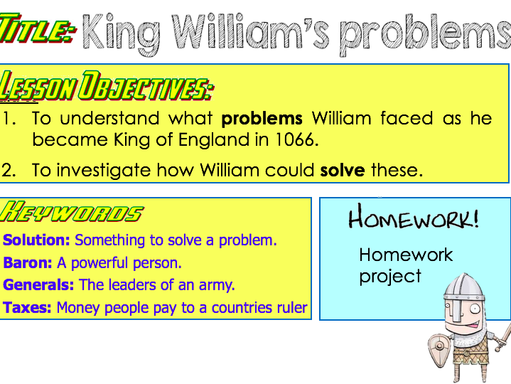 The problems of William in 1066.