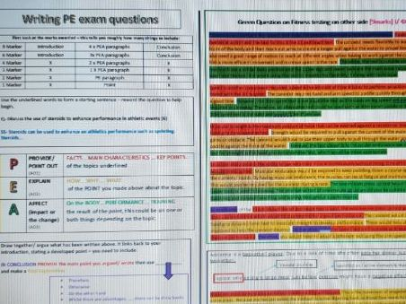 Exam question reading & structuring  knowledge organiser.