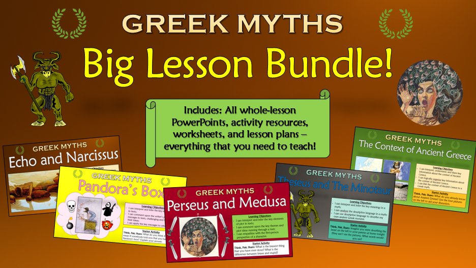 Greek Myths: Big Lesson Bundle!