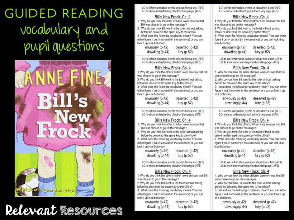Guided Reading: Bill's New Frock