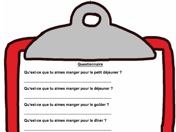 French : Food Questionnaire