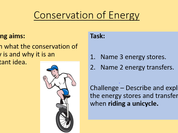 AQA P1.2 Conservation of Energy