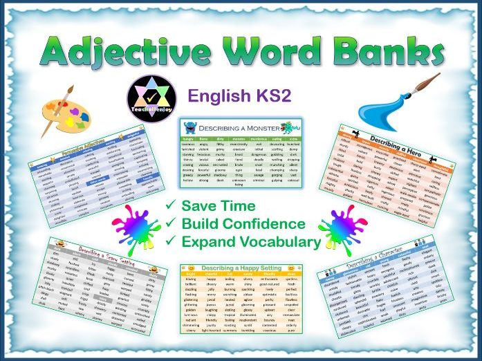 Adjective Word Banks Pack
